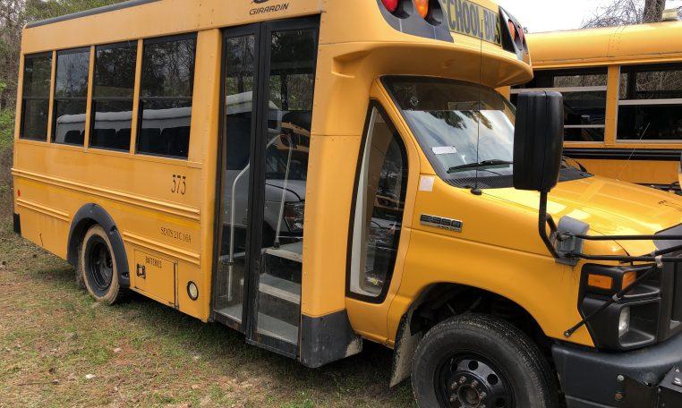 exterior of girardin mini school bus