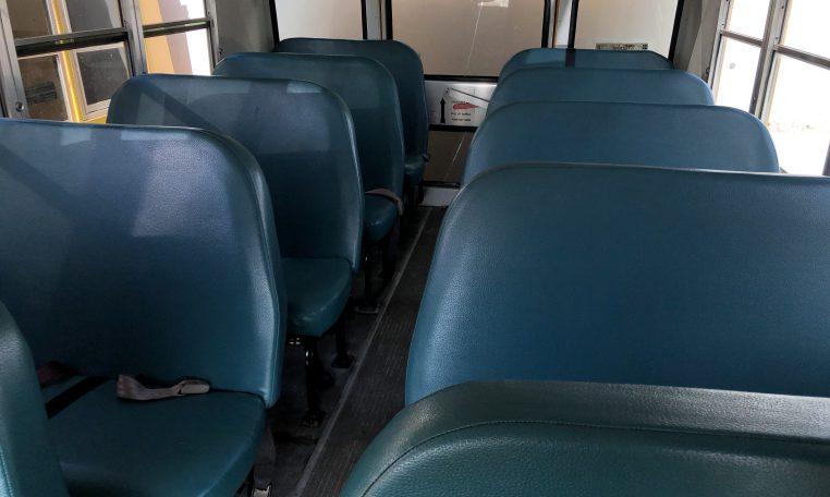 interior seating of gmc blue bird school bus